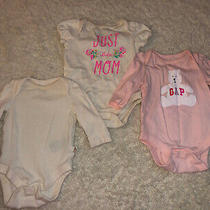 Gap Baby Girl Lot of 3 Tops (0-3 Mos) Photo