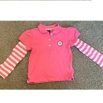 Gap Baby Girl Pink Long Sleeve Shirt  for 2 Years Old Toddler Photo