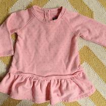 Gap Baby Girl Sz 6-12 Month Pink With Gray Dots Shirt Top Euc Photo