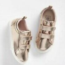 Gap Baby Girl Toddler Classic Strap Sneakers Shoes Rose Gold Size Us 6 Photo