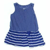 Gap Baby Girls Dress Size 12 Mo  Blue/navy White  Cotton Photo