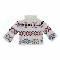 Gap Baby Girls Sweater Size 12 Mo  White  Acrylic Wool Photo