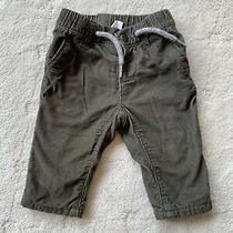 Gap Baby Infant Boys Dark Green Corduroy Pants Size 3-6m Super Soft Never Worn  Photo