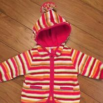 Gap Baby Infant Girl 0 3 Mo Vibrant Colors Fleece Hooded Jacket Photo