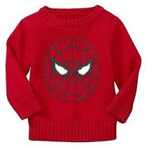 Gap Baby / Toddler Boy 12-18 Months Nwt Junk Food / Spiderman Intarsia Sweater Photo
