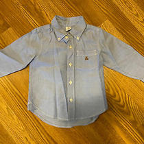 Gap Baby Toddler Boy Button-Up Blue Shirt Size 2 Years Photo