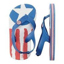 Gap Baby / Toddler Boy Nwt Size 7 / 8 Junk Food Captain America Flip Flops Shoes Photo