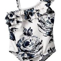 Gap Baby / Toddler Girl 4 Years / 4t Nwt Floral Ruffle Bathing Suit - 2014 Photo