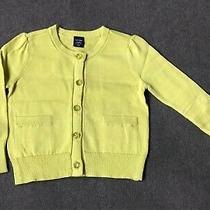 Gap Babygap Nwt Lime Color Cardigan Sweater Size 12-18 Monthseaster Dress-Up Photo