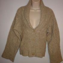 Gap Beige Merino Wool Cable Knit Cardigan Sweater Size Xs Dolman Sleeve  Photo