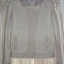 Gap Beige Sweater Wool With Nice Collar  Sz S Long Sleeves Euc Dressy Photo