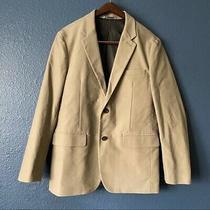 Gap Beige Two Button 100% Cotton Sports Coat Men's Size Medium Lined Blazer Photo