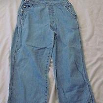 Gap Bib Overalls Womens Size Medium Grunge Distressed Light Denim Blue Jean  Photo