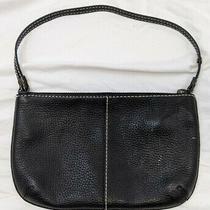 Gap Black Black Leather Purse Handbag Bag Baggette Small  Photo