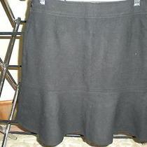 Gap Black Fluted Wool Skirt -4- Worn Once Photo
