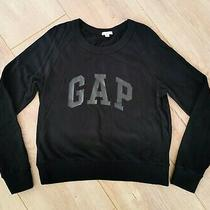 Gap Black Jumper Size S 100% Cotton Long Sleeves Winter Photo