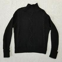 Gap Black Knit Sweater 100% Cotton Size Small Excellent Condition Photo