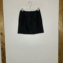 Gap Black/silver Metallic Shimmery Texture Mini Skirt Lined Size 6 Nwt Photo