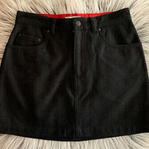 Gap Black Size 2 Wool Blend Mini Skirt Zip and Button With Pockets. Super Cute. Photo