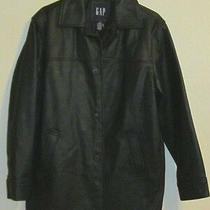 Gap Black Size Xs Women's Leather Jacket Mint Condition New With Tag  Photo