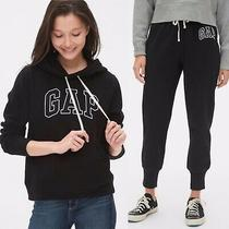 Gap Black Tracksuit Set Gap Logo Hoodie and Joggers Size S (Rrp 65) Photo