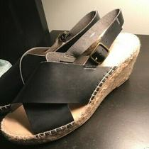 Gap Black Wedge Sandals Size 8 Photo