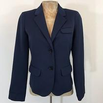 Gap Blazer Sz 0 Two Button Collared Pockets Modern Career Professional Navy Blue Photo