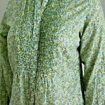 Gap Blouse Top Blue/green/white/yellow Floral Cotton Size S Excellent Cond. Photo