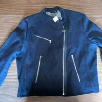 Gap Blue Cotton Women's Jacket Size Xxl New With Tags Never Worn W Silver Zipper Photo