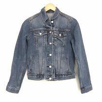 Gap Blue Denim Jean Jacket 100% Cotton Euc Women's Xs Photo