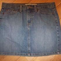 Gap Blue Denim Short Mini Jeans Skirt Size 6 Photo