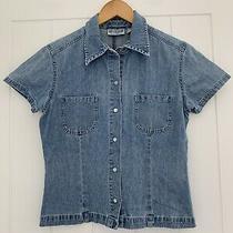 Gap Blue Denim Short Sleeved Shirt Size S Photo