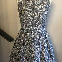 Gap Blue Flowery Dress Size Uk 4 Photo
