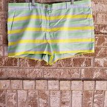 Gap Blue Green Yellow Striped Shorts Size 16 Photo
