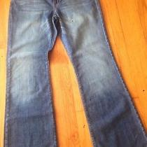Gap Blue Jeans Curvy Flare Women's 10r Distressed Look New. Photo