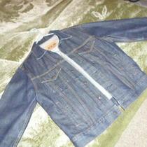 Gap Blue Jeans Denim Trucker Jacket Men's Sz. S Photo