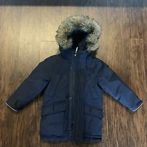 Gap Blue Navy Kids Boy's Down Filled Parka Coat Jacket Wrmst Dwn Prka Size Xs Photo
