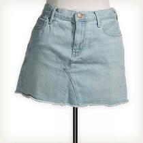 Gap Blue Solid Mini Skirt Sz 29 Photo