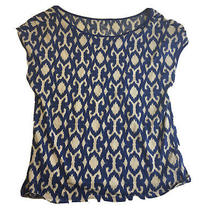 Gap Blue White Pima Cotton T-Shirt Top Size S Photo