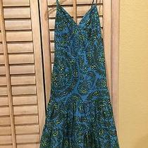 Gap Blue With Yellow and Purple Flowers Dress Photo