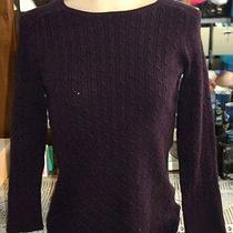 Gap Boat Neck Purple Cable Knit Sweater M - 162 Photo