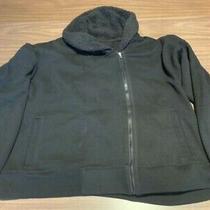 Gap Body Fit Black Women's Cotton Blend Jacket Size Xl Zip Up and Furry Inside Photo