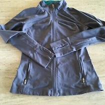 Gap Body Fit Full Zip Jacket Size Xs Light Grey/violet Thumbholes Zip Pockets Photo