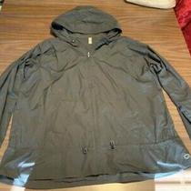 Gap Body Fit Women's Grey Jacket Black Size Xl With Hood and Cinches at Waist Photo