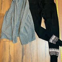 Gap Body Pajama Set-Leggings & Soft Knit Vest-Sz M Photo