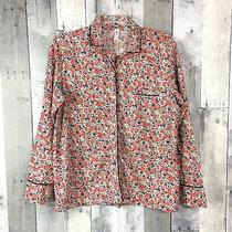 Gap Body Womens Pajama Sleep Shirt Top Long Sleeve Button Up Floral Size S Small Photo
