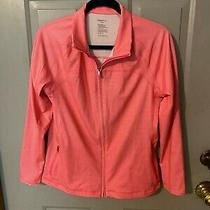 Gap Body Workout Striped Pink Jacket in Size Large Photo