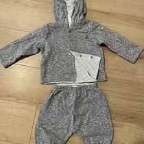 Gap Boy's Gray Reversible 2-Piece Outfit Set Size 6-12 Months orig.36 Photo