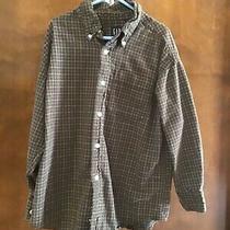 Gap Boys Plaid Button Up Dress Shirt (Size s) Photo