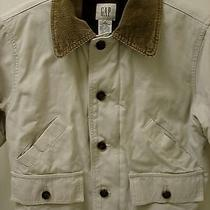 Gap Boy's Tan Canvas & Corduroy Collar Barn/field Jacket/coat Size Small 6-7 Photo